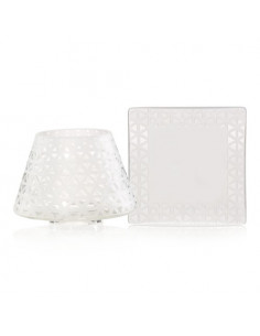Coastal stripe - Votive holder dark blue